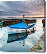 Beadnell Harbour Sunset Canvas Print
