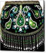 Beadwork And Rhinestones. Belly Dance Fashion Canvas Print