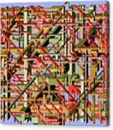 Beams Abstract Art Canvas Print