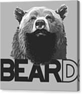 Bear And Beard Canvas Print