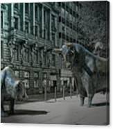 bear and bull Frankfurt Canvas Print