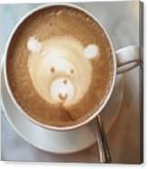 Bear Cup Latte  Canvas Print
