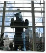 Bear In The Window Canvas Print