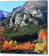 Bear Lake Road In Autumn Canvas Print