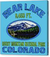 Bear Lake Rocky Mountain National Park Colorado Canvas Print