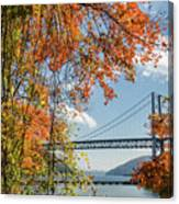 Bear Mountain Bridge Fall Color Canvas Print