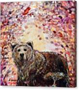 Bear With A Heart Of Gold Canvas Print