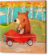 Bear Out For A Drive Canvas Print