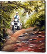 Bear Wallow Rider Canvas Print