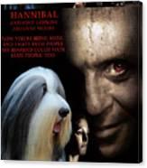 Bearded Collie Art Canvas Print - Hannibal Movie Poster Canvas Print