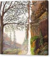 Bears At Waterfall Canvas Print