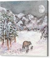 Bears In Winter Canvas Print