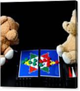 Bears Playing Halma Canvas Print