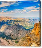 Beartooth Highway Scenic View Canvas Print