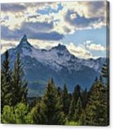 Beartooth Mountains In Spring Canvas Print