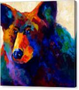 Beary Nice - Black Bear Canvas Print