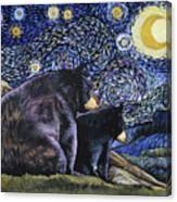 Beary Starry Nights Too Canvas Print