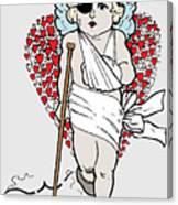 Beaten Up Cupid Art - Funny Love Broken Heart Art Canvas Print