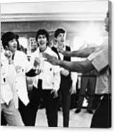 Beatles And Clay, 1964 Canvas Print