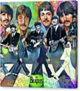 Beatles Fan Art Canvas Print