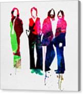 Beatles Watercolor Canvas Print