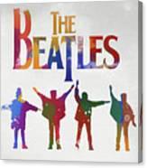 Beatles Watercolor Poster Canvas Print