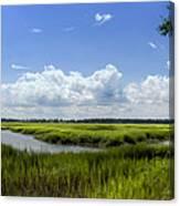 Beaufort Intracoastal Waterway Canvas Print