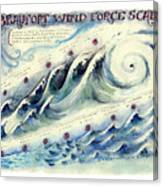 Beaufort Wind Force Scale Canvas Print
