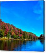 Beautiful Autumn Reflections On Bald Mountain Pond Canvas Print
