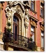 Beautiful Balcony In Austria Canvas Print