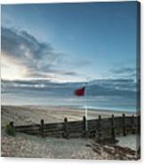 Beautiful Beach Coastal Low Tide Landscape Image At Sunrise With Canvas Print