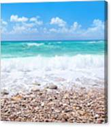 Beautiful Beach Panoramic Landscape Canvas Print