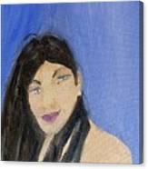 Beautiful Brunette Canvas Print