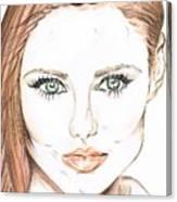Brunette- So Beautiful  Canvas Print