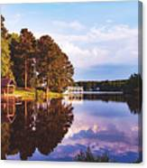 Beautiful Bunn Lake - Zebulon, North Carolina Canvas Print