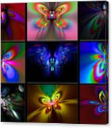 Beautiful Butterfly Collection Canvas Print