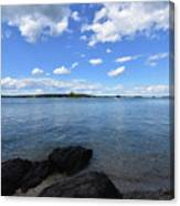 Beautiful Calm Ocean Water's In Casco Bay Maine Canvas Print