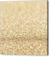 Beautiful Champagne Gold Glitter Sparkles Canvas Print