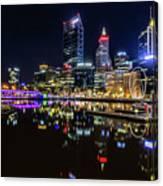 Beautiful Cityscape At Perth's Elizabeth Quay  Canvas Print