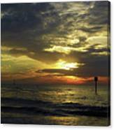 Beautiful Clearwater Sunset Canvas Print