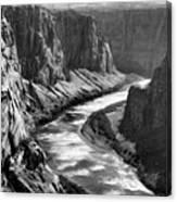 Beautiful Colorado River Page Arizona Blk Wht  Canvas Print