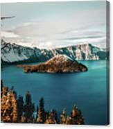 Beautiful Crater Lake Canvas Print