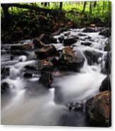Beautiful Creek In Western Ghats Region Of Karnataka State India Canvas Print