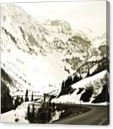 Beautiful Curving Drive Through The Mountains Canvas Print