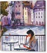 Beautiful Day, Reading Canvas Print