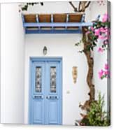 beautiful door Paros Canvas Print