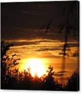 Beautiful End Of Day Canvas Print
