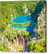 Beautiful Falling Lakes Of Plitvice National Park Canvas Print