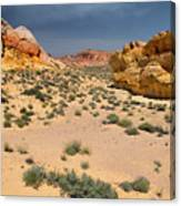Beautiful Hiking In The Valley Of Fire Canvas Print