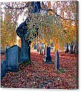 Beautiful Historic Camp Hill Cemetery Halifax Nova Scotia Canvas Print